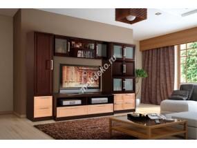 """Мебель для гостиной комнаты со стеклом и секцией под телевизор """"Олимпия-4"""""""