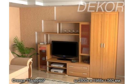 """Комплект мебели в гостиную с нишей под ТВ """"Палермо"""""""