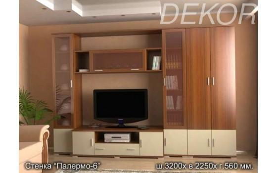 """Стенка в гостиную с платяным шкафом и нишей для телевизора  """"Палермо-6"""""""