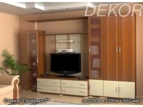 "Стенка в гостиную комнату с двустворчатым шкафом ""Палермо-7"""