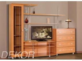 """Мебель для  гостиной комнаты с полукруглой тумбой под тв и комодом """"Санремо-11"""""""