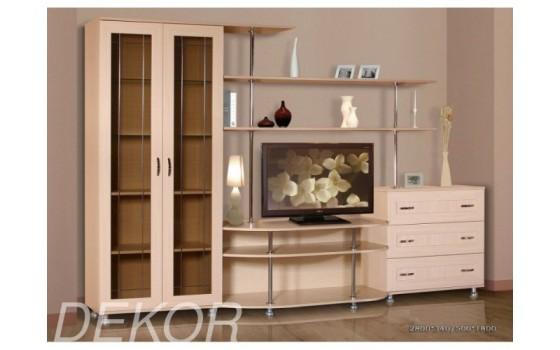 """Комплект мебели для гостиной с комодом, шкафом для посуды и тумбой под тв """"Санремо-2"""""""