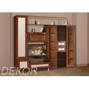 """Мебель в гостиную комнату с рамкой мдф и стеклом """"Санремо-1"""""""