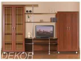 """Стенка с двустворчатым шкафом и отделом под телевизор """"Санремо-4"""""""
