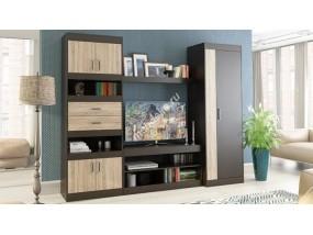 """Мебель для гостиной с платяным шкафом и секцией под тв """"Тоскана"""""""
