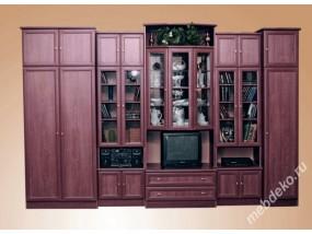 """Комплект мебели для гостиной комнаты с нишей под тв и стеклом  """"Валентин"""""""