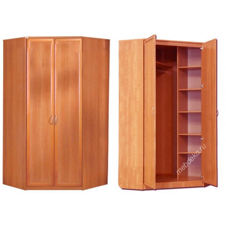 Шкафы распашные - угловые шкафы - шкаф угловой двухдверный о.