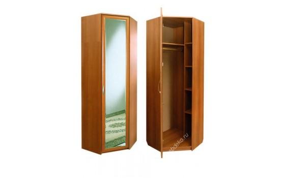 Угловой распашной шкаф с зеркалом Меркурий