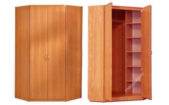 Распашной угловой 2-х дверный шкаф