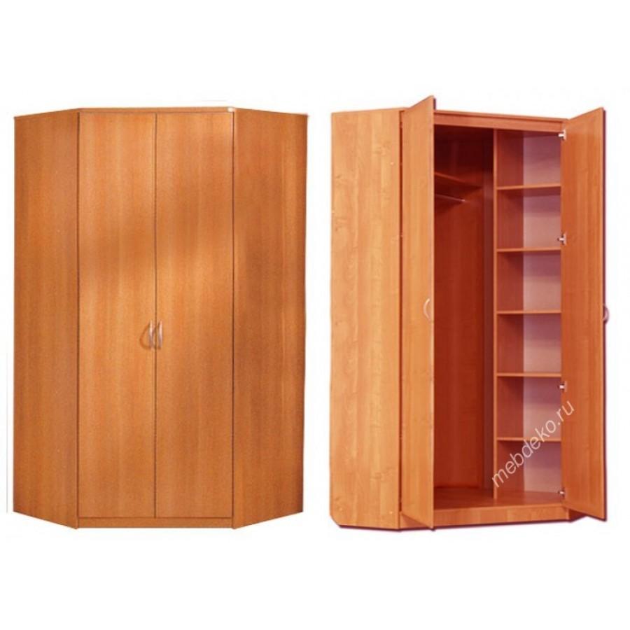 Распашной угловой 2-х дверный шкаф.