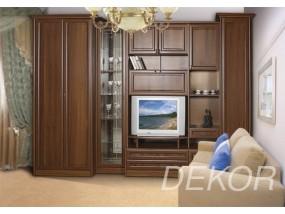 """Комплект мебели для гостиной комнаты с двустворчатым шкафом в секцией под тв """"Юникс-2"""""""