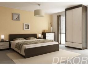 """Комплект мебели для спальни """"Юнона-3"""" с комодом и шкафом-купе"""